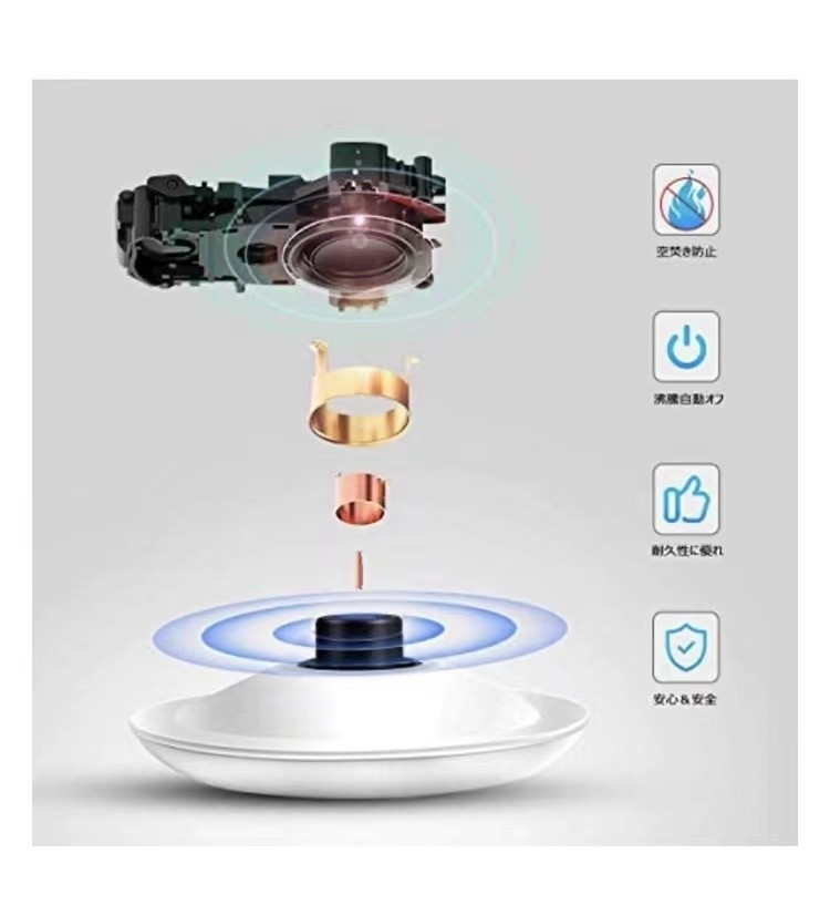 電気ケトル 自動電源オフ 1200W高速沸騰 ガラスケトル 1.2L大容量