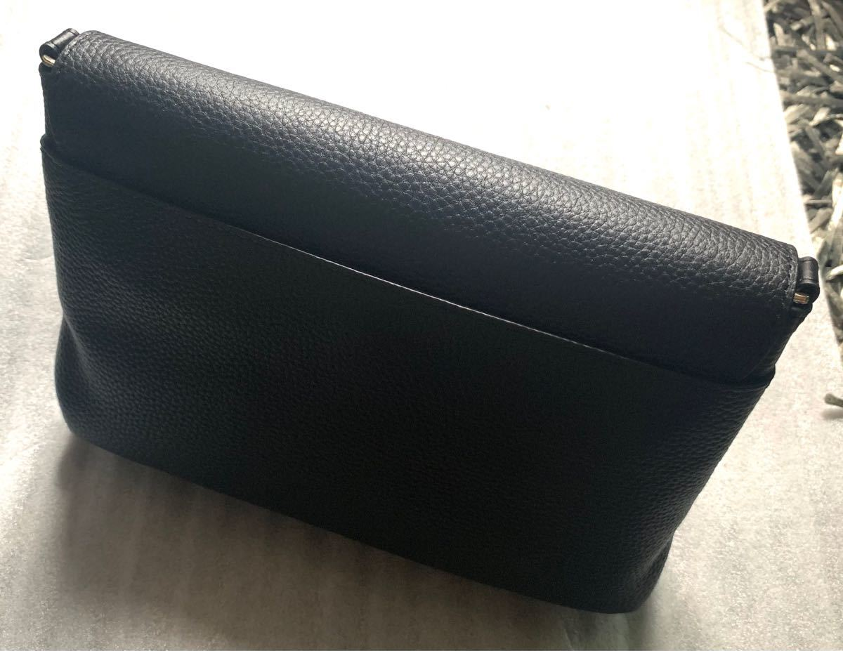 agnes b. ショルダーバッグ ロゴ金具 ブラック 新品未使用品
