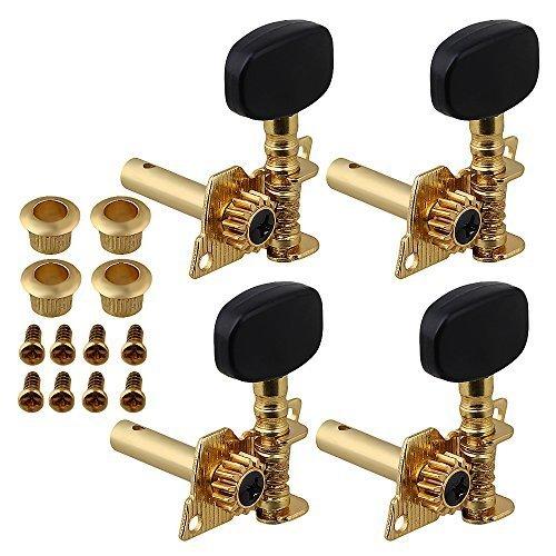 新品 Yibuy Gold-plated 2R2Lチューニングペグマシーン・ヘッドチューナーForウクレレ4弦RX8H_画像8