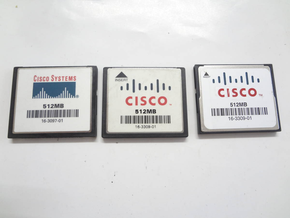複数在庫 CISCO CompactFlash 512MB 3枚セット 中古_画像1