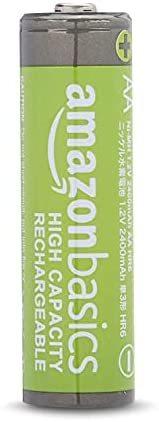 Amazonベーシック 充電池 高容量充電式ニッケル水素電池単3形8個セット (充電済み、最小容量 2400mAh、約500回使用可能)_画像2