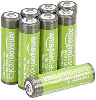 Amazonベーシック 充電池 高容量充電式ニッケル水素電池単3形8個セット (充電済み、最小容量 2400mAh、約500回使用可能)_画像1