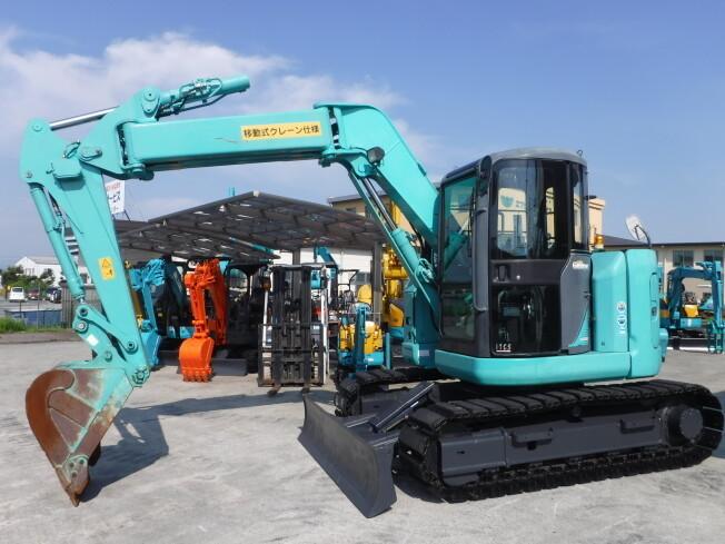 「油圧ショベル(ユンボ) コベルコ建機 SK80UR-6 2013年製 3435h」の画像2