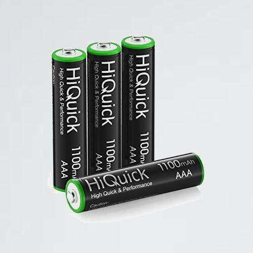 新品 未使用 単四電池 HiQuick 2-T8 約1200回使用可能 単四充電池セット 充電式 ニッケル水素電池高容量1100mAh 単4形充電池 4本入り_画像1