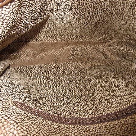 ボルボネーゼ BORBONESE ショルダーバッグ レザー スエード うずら フラップ TRACOLLA 茶 ベージュ 鞄_画像7