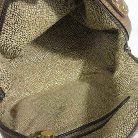 ボルボネーゼ BORBONESE 2Wayハンドバッグ ショルダーバッグ ストラップ付 うずら柄 スエードレザー 茶色 ブラウン ◎H4_画像6