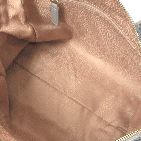 未使用品 ボルボネーゼ BORBONESE ショルダー バッグ ハンド 2WAY うずら柄 紺 ネイビー 鞄 レディース_画像6