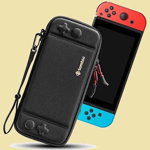 大人気 新品 未使用 Switch対応 Nintendo G-J5 ストラップ付き ブラック tomtoc ハ-ドケ-ス スイッチ 耐衝撃 薄型 キャリングケ-ス_画像1