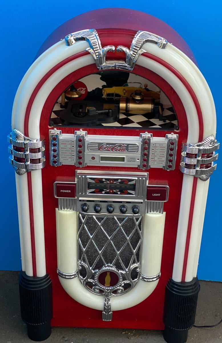 希少 コカコーラ Coca Cola ジュークボックス CD AUX ラジオ オーディオ レトロ Coke _画像1
