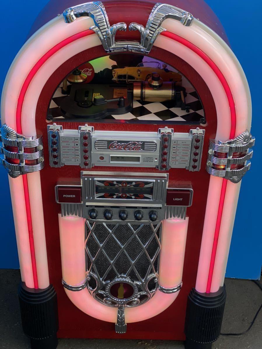 希少 コカコーラ Coca Cola ジュークボックス CD AUX ラジオ オーディオ レトロ Coke _画像4