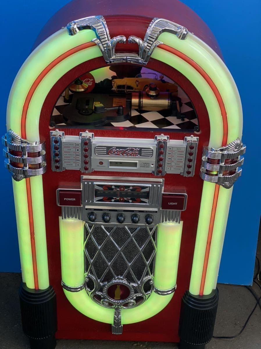 希少 コカコーラ Coca Cola ジュークボックス CD AUX ラジオ オーディオ レトロ Coke _画像5