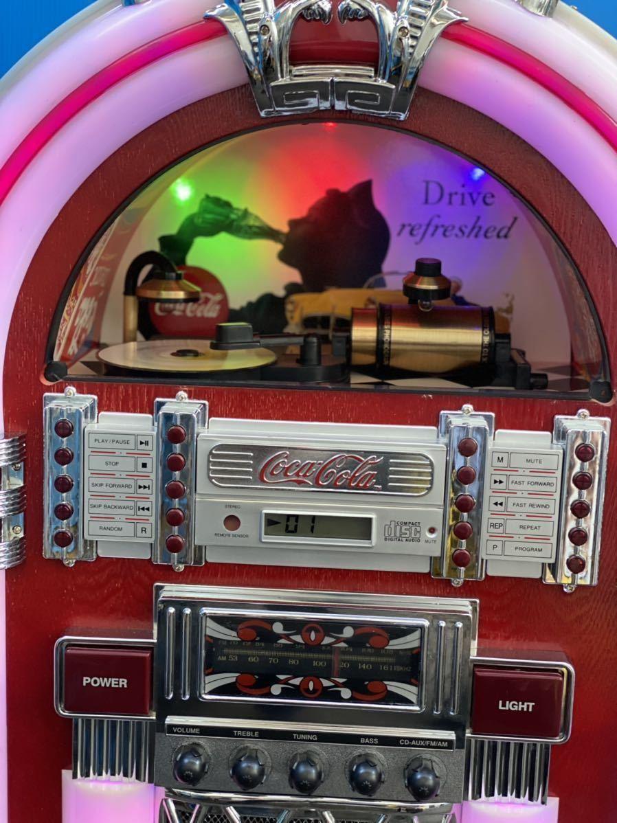希少 コカコーラ Coca Cola ジュークボックス CD AUX ラジオ オーディオ レトロ Coke _画像2