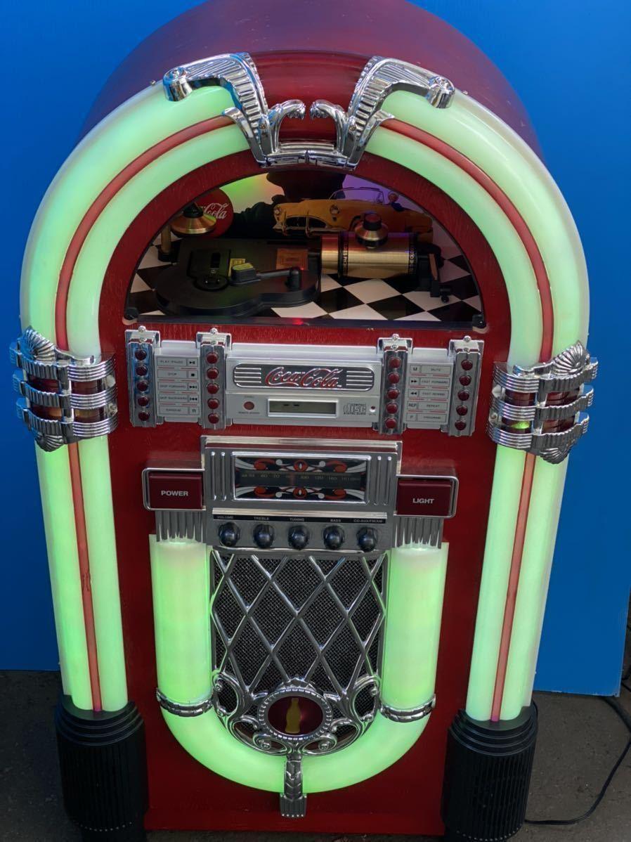 希少 コカコーラ Coca Cola ジュークボックス CD AUX ラジオ オーディオ レトロ Coke _画像6