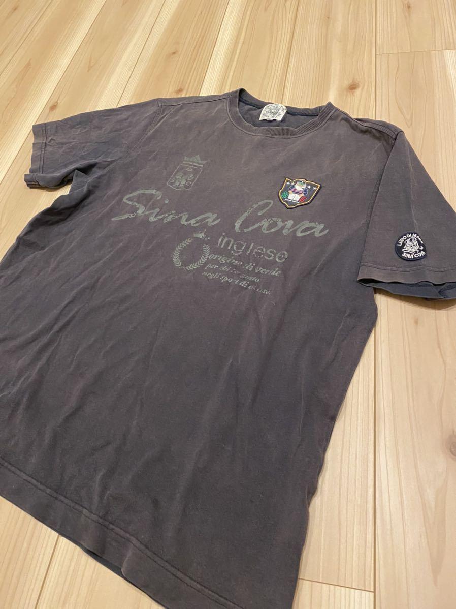 豪華デザイン SINA COVA シナコバ 半袖 Tシャツ メンズ サイズL ワッペン ロゴ