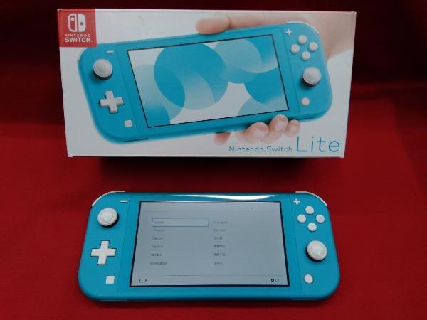 ニンテンドースイッチライト本体 【初期化済み】Nintendo Switch Lite ターコイズ スティック ベタつきあり 箱一部ヤケムラあり_画像1