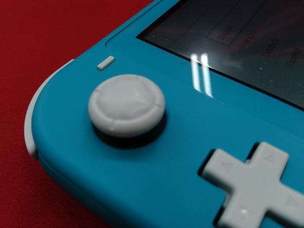 ニンテンドースイッチライト本体 【初期化済み】Nintendo Switch Lite ターコイズ スティック ベタつきあり 箱一部ヤケムラあり_画像2