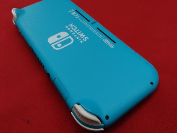 ニンテンドースイッチライト本体 【初期化済み】Nintendo Switch Lite ターコイズ スティック ベタつきあり 箱一部ヤケムラあり_画像4