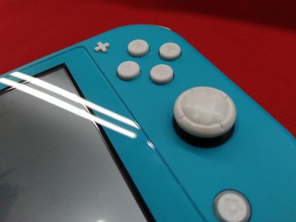 ニンテンドースイッチライト本体 【初期化済み】Nintendo Switch Lite ターコイズ スティック ベタつきあり 箱一部ヤケムラあり_画像3