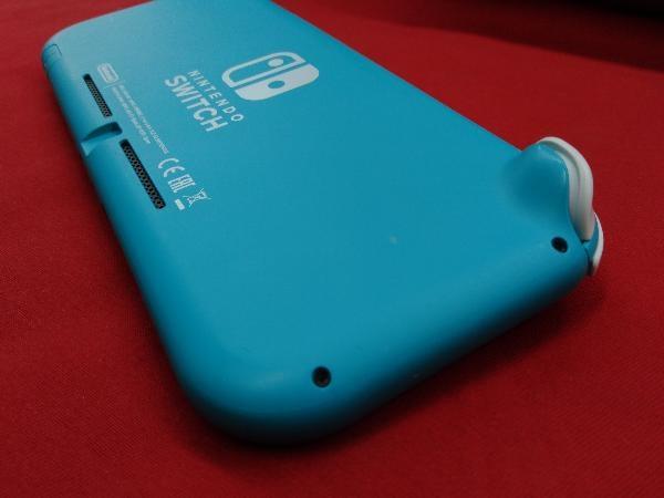 ニンテンドースイッチライト本体 【初期化済み】Nintendo Switch Lite ターコイズ スティック ベタつきあり 箱一部ヤケムラあり_画像5