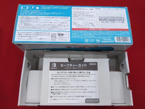 ニンテンドースイッチライト本体 【初期化済み】Nintendo Switch Lite ターコイズ スティック ベタつきあり 箱一部ヤケムラあり_画像6