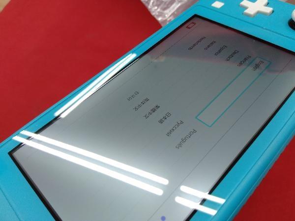 ニンテンドースイッチライト本体 【初期化済み】Nintendo Switch Lite ターコイズ スティック ベタつきあり 箱一部ヤケムラあり_画像7