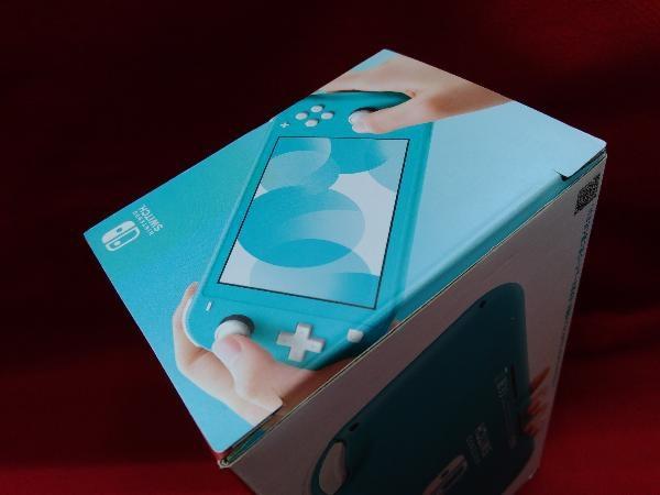 ニンテンドースイッチライト本体 【初期化済み】Nintendo Switch Lite ターコイズ スティック ベタつきあり 箱一部ヤケムラあり_画像8