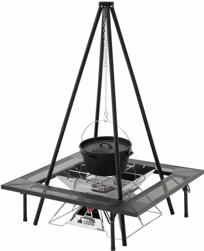 アイアン囲炉裏テーブル アウトドア キャンプ バーベキュー BBQ 焚き火 焚火