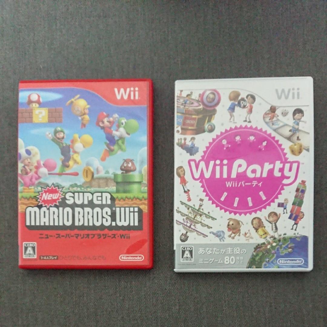 Wii  ニュースーパーマリオブラザーズ wiiパーティー2本セット
