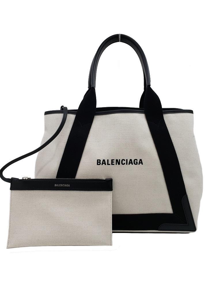 未使用品!BALENCIAGA【バレンシアガ】581292 NAVY CABAS/ネイビーカバス Mサイズ ハンドバッグ/トートバッグ (3255)_画像1