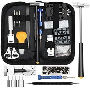 新品kubo 時計工具 185点セット 時計修理 腕時計工具 腕時計修理工具セット 電池 ベルト バンドサイズ調整 398R_画像1