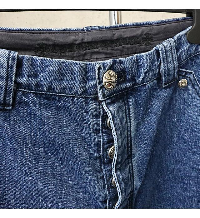 銀座店 新品 クロムハーツ カーペンター デニム パンツ ペインター ブルー 34インチ_画像4