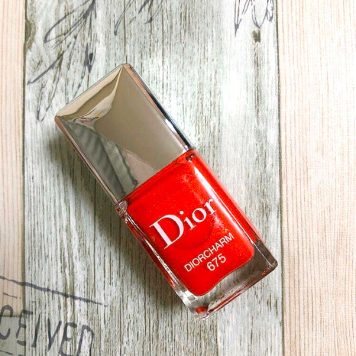 限定 ◆新品未使用◆ Dior ディオール ヴェルニ 675 コーラル ピンク オレンジ レッド ネイル マニキュア ラメ パール