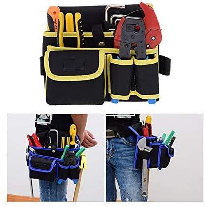 ZMAYA STAR 腰袋片側 電工用 工具差し 工具袋 ウエストバッグ ツールバッグ ツール ポーチ ZMGJYD-01A (工具袋-4-BL)_画像3