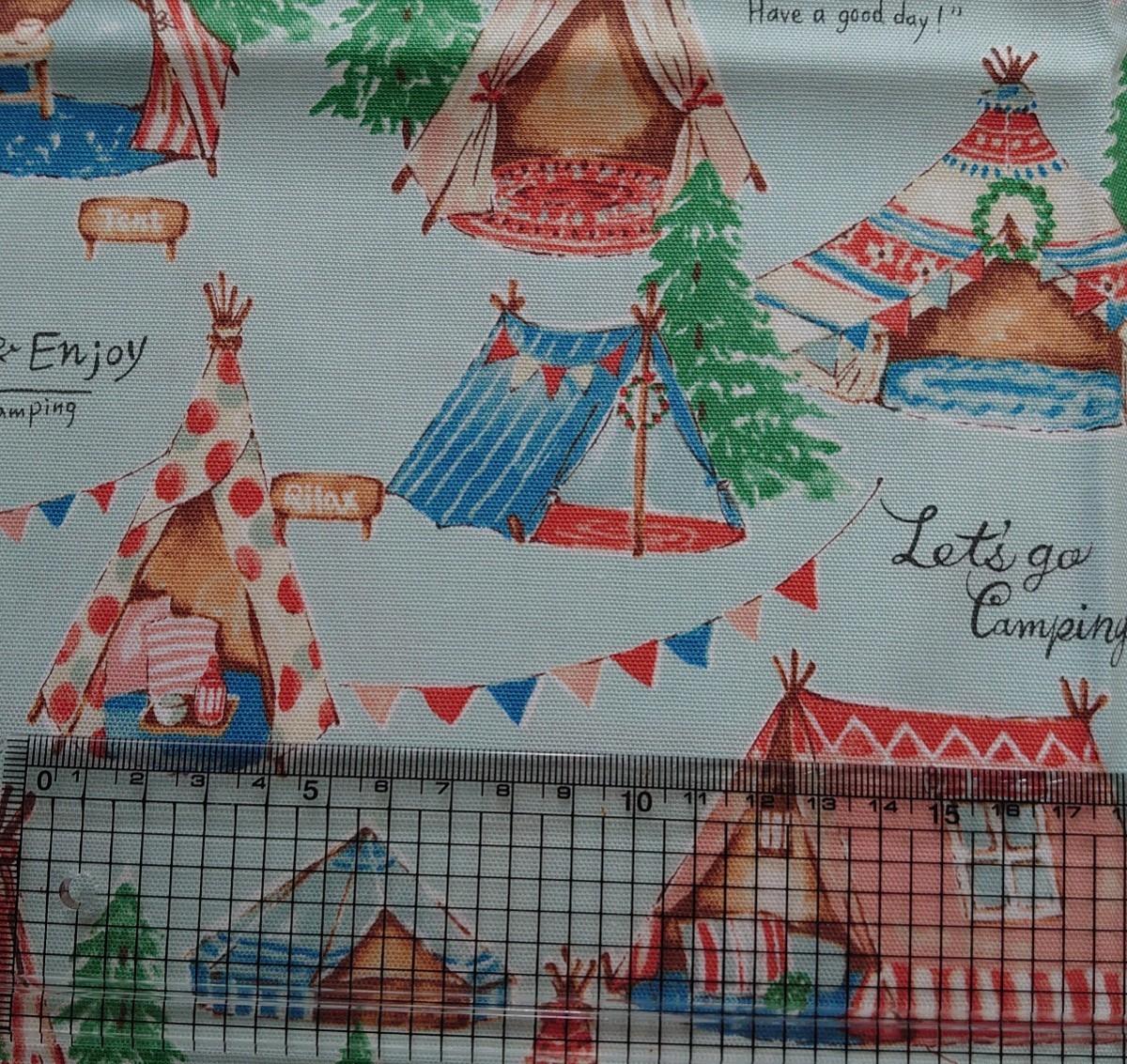 オックス生地 日本製 グランピング テント キャンプ 110×50cm コッカ