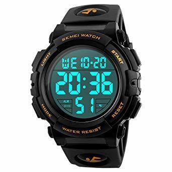 01-ゴールド 腕時計 メンズ デジタル スポーツ 50メートル防水 おしゃれ 多機能 LED表示 アウトドア 腕時計(ゴール_画像1