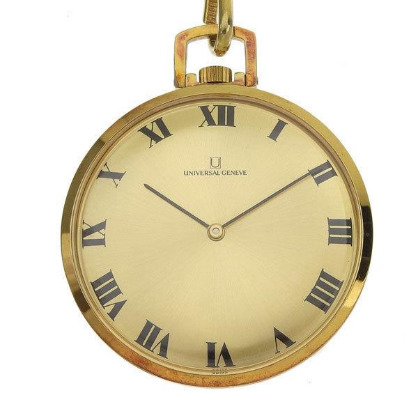 1円☆03楽市☆ UNIVERSAL GENEVE ユニバーサルジュネーブ 手巻き 懐中時計