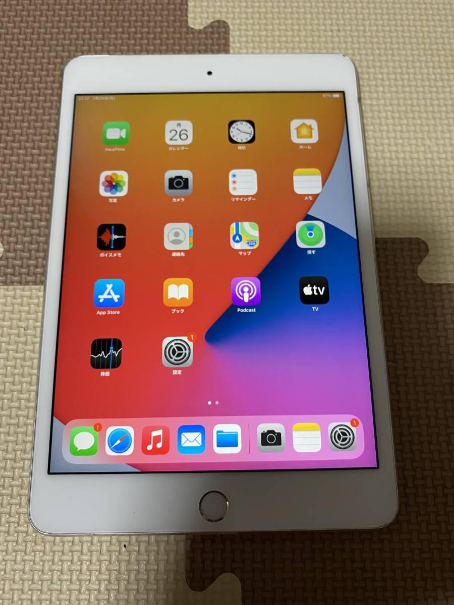 iPad mini4 WiFi+Cellular(simフリー) 64GB 充電64回 良品 初期保証有 送料無料 1円スタート ④