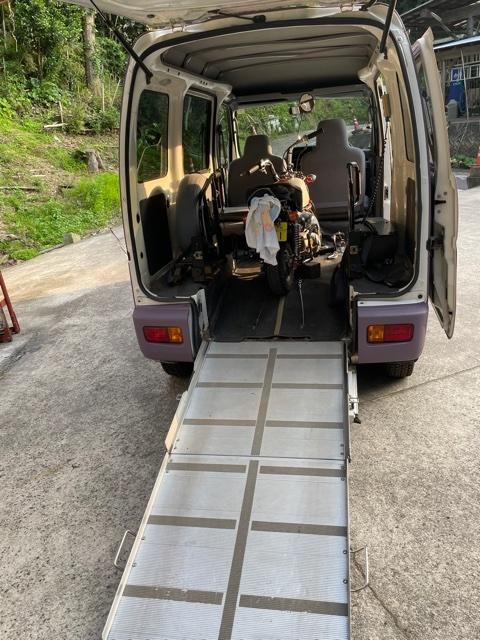 「ハイゼット 4WD ATスローパー モンキー・ラビットなど 運搬・保管・トランポに 車検 5年7月まで」の画像2