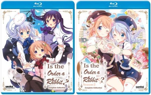 【送料込】2点セット ご注文はうさぎですか ?? 第1期+第2期(北米版 ブルーレイ) Is the Order a Rabbit? blu-ray BD