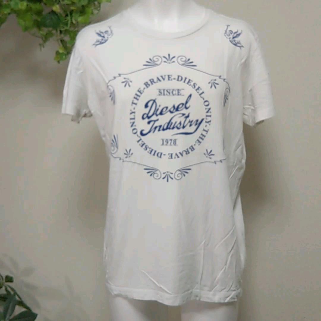 ディーゼル半袖TシャツM 白 Dieselブレイブマン/羽の生えた天使プリントは必見です! ディーゼルジャパン正規品 綿100