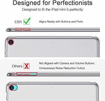 ローズゴール ESR iPad Mini 5 2019 ケース 軽量 薄型 PU レザー スマート カバー 耐衝撃 傷防止 クリ_画像6