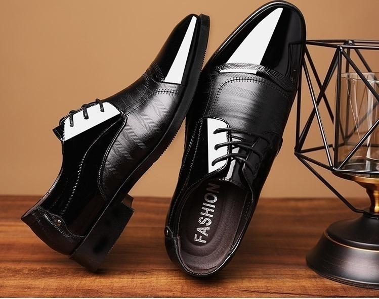 本日の目玉 ☆ メンズ ビジネス レザー シューズ ブラック サイズ 28.0cm 革靴 靴 カジュアル 屈曲性 通勤 軽量 【227】