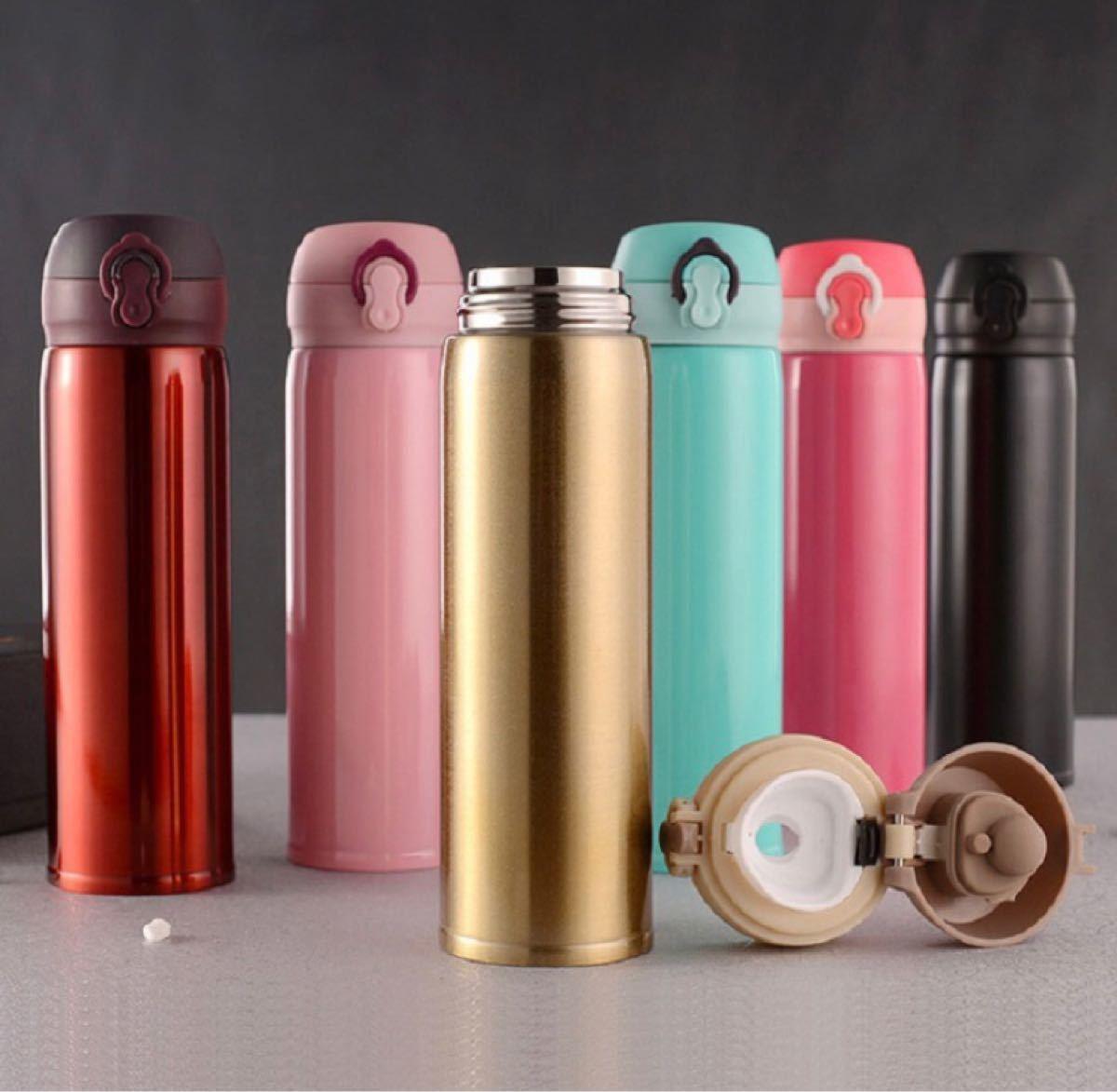マグボトル 500ml 水筒 真空断熱 水筒 ステンレス マグ ボトル 黒色