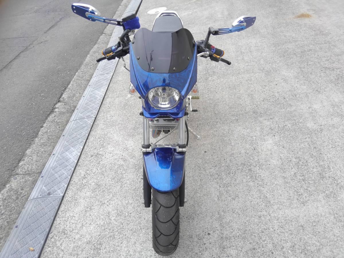 「ホンダ エイプ100 タイプD HC13 ディスク 125cc ボアアップ フルカスタム タケガワ キタコ Gクラフト 検 モンキー グロム」の画像2