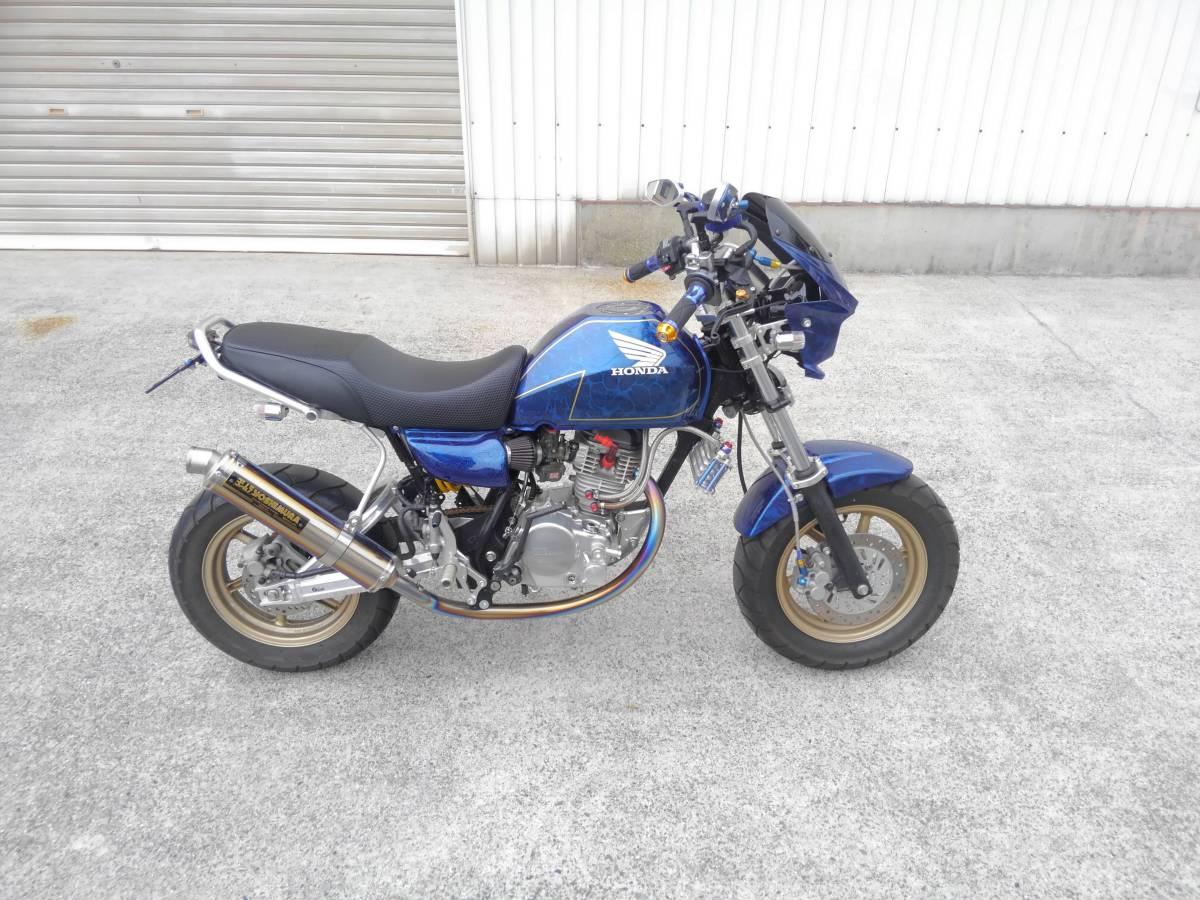 「ホンダ エイプ100 タイプD HC13 ディスク 125cc ボアアップ フルカスタム タケガワ キタコ Gクラフト 検 モンキー グロム」の画像1
