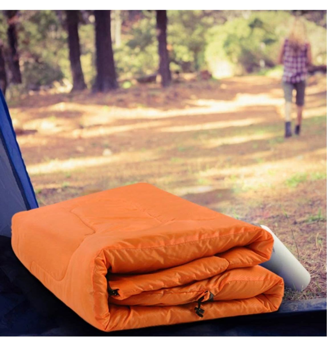 封筒型寝袋 軽量 保温 防水 簡単収納シュラフ 登山 キャンプ  1.35kg