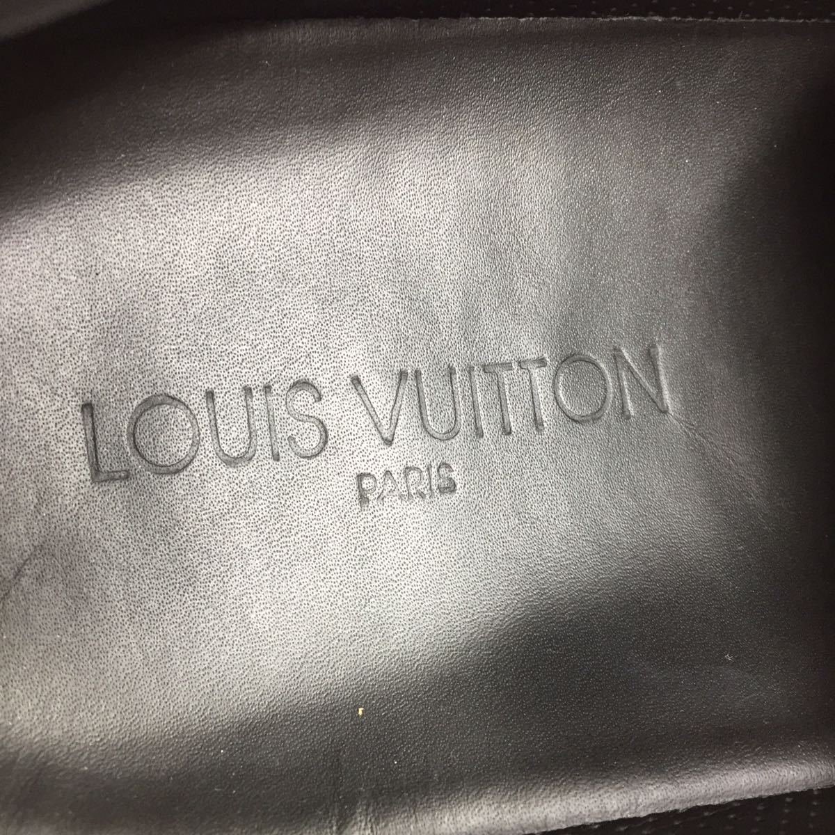 【ルイヴィトン】本物 LOUIS VUITTON 靴 28cm 黒 モノグラム スニーカー カジュアルシューズ 本革 レザー 男性用 メンズ イタリア製 9 1/2_画像9