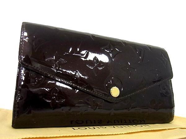 1円 ■美品■ LOUIS VUITTON ヴィトン M90152 モノグラム ヴェルニ ポルトフォイユ サラ