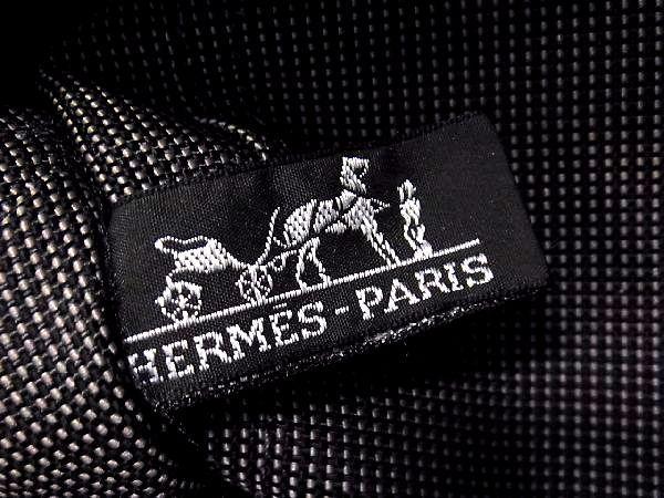 1円 ■美品■ HERMES エルメス エールラインPM キャンバス シルバー金具 ハンドバッグ トートバッグ メンズ レディース グレー系 M6479QN_画像9