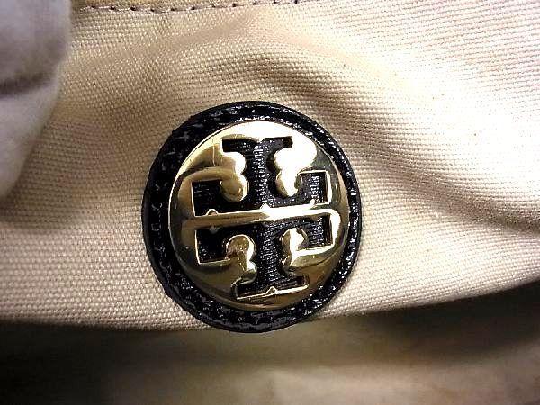 1円 TORY BURCH トリーバーチ パテントレザー ゴールド金具 トートバッグ ハンドバッグ 手提げかばん レディース ブラック系 Q0245QM_画像10